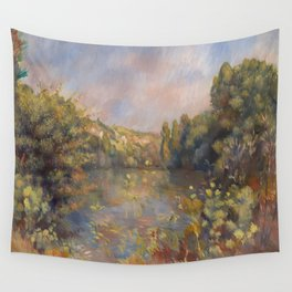 Lakeside Landscape by Renoir Wall Tapestry