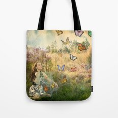 Release of the butterflies Tote Bag
