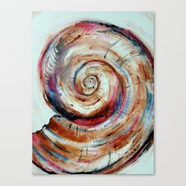Moon Shell in Color Canvas Print