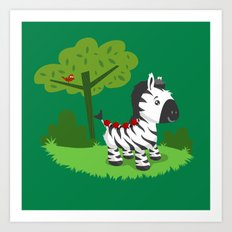 ZEBRA ROAD Art Print