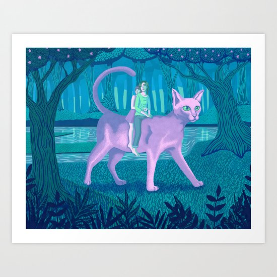 Paseo Art Print