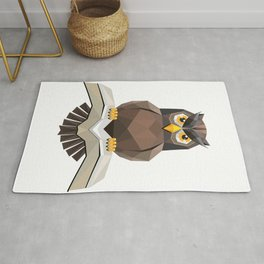 Vector, Brown Owl fly with the book Rug