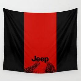 RED+BLACK 'Tiretracks' Wall Tapestry