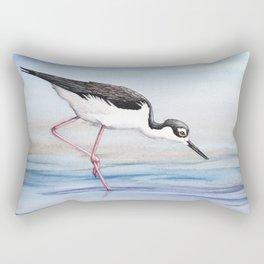 Black-necked Stilt Rectangular Pillow