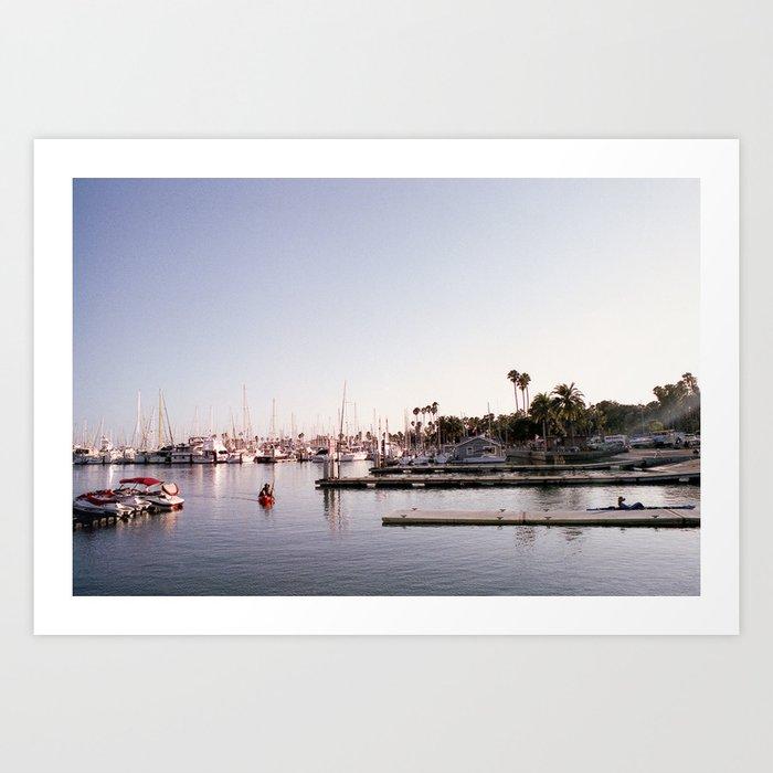 Santa Barbara Harbor Art Print