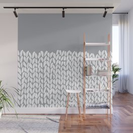 Half Knit Grey Wall Mural