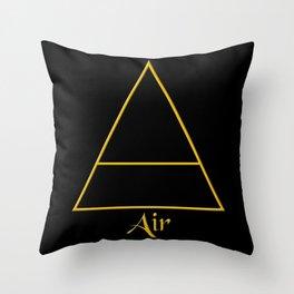 Air Element Symbol Throw Pillow