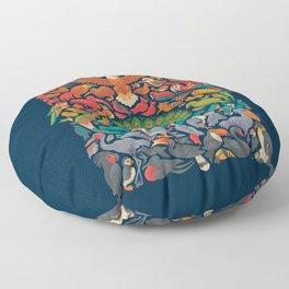 Aerial Spectrum : Blue Floor Pillow