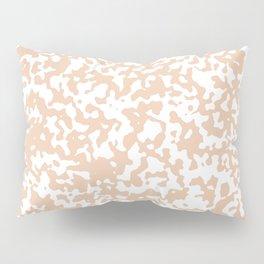 Small Spots - White and Desert Sand Orange Pillow Sham