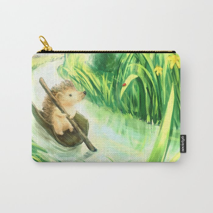 Hedgehog on a journey Carry-All Pouch