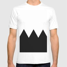 Black and white MEDIUM Mens Fitted Tee White