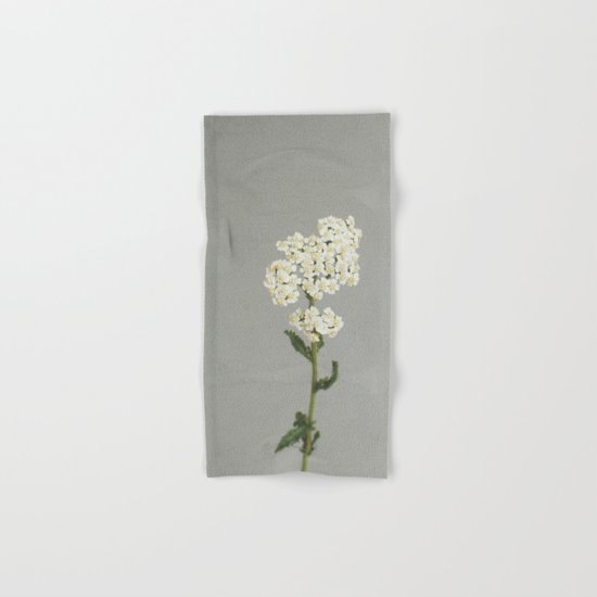 White Flowers Hand & Bath Towel