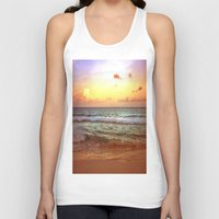 beach Tank Tops featuring beacH Sunrise Sunset by WhimsyRomance&Fun