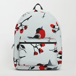 Red Winter Bird Backpack