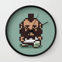 earthbound Wall Clocks featuring Mr. T ... Is that you? Earthbound / Mother 2 by Studio Momo╰༼ ಠ益ಠ ༽