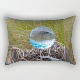 Crystal Ball, Lens Ball in Tall Grass by the Ocean Rectangular Pillow