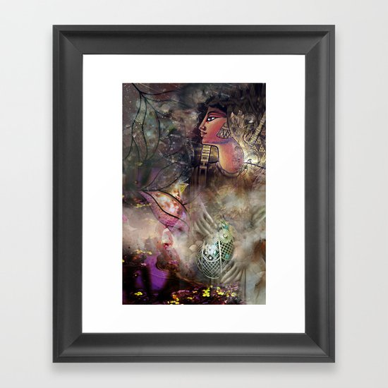 Gold and Glass Framed Art Print
