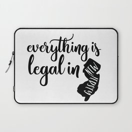 EVERYTHING IS LEGAL Laptop Sleeve