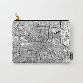 Houston White Map Carry-All Pouch