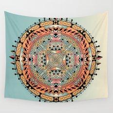Mandala Orange Spike Wall Tapestry