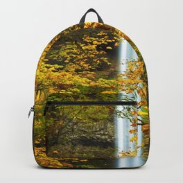 Waterfall Golden Autumn Leaves Backpack