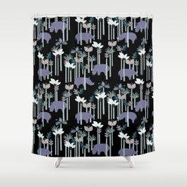 Rhino Jungle Shower Curtain