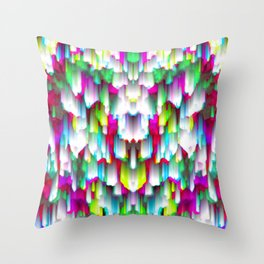 Colorful digital art splashing G396 Throw Pillow