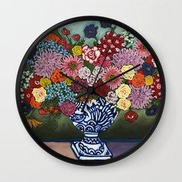 Amsterdam Flowers Wall Clock