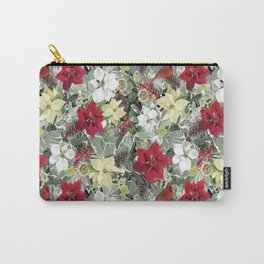 Winter Flora Holiday Carry-All Pouch