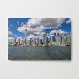 Toronto, Ontario, Canada (Beautiful Skyline of Toronto during the day) Metal Print