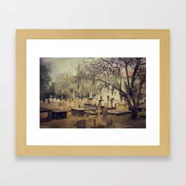 Charleston Circular Cemetery Framed Art Print