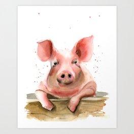 Pig portrait Art Print