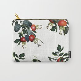 Rose hip, realsitic botanical illustration vector Carry-All Pouch
