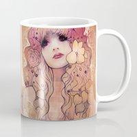 laura palmer Mugs featuring Laura by Megan Lara