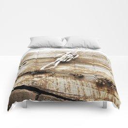 Nautical Rope in Sepia Comforters