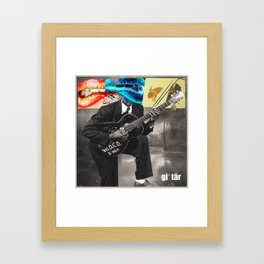 WDCD RADIO : Guitar Framed Art Print