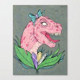 crystal dinosaur. Canvas Print