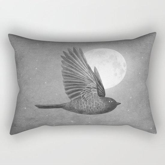Night Bird Rectangular Pillow