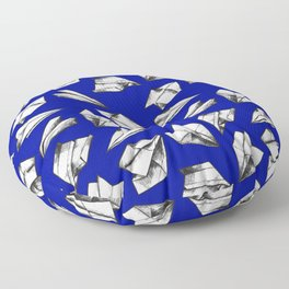 Paper airplane pattern Floor Pillow