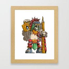Pencil Warrior Framed Art Print