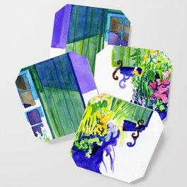 Window-box Watercolor Coaster