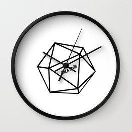 Let's Roll! D20 Wall Clock