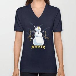 Zen Snowman Unisex V-Neck