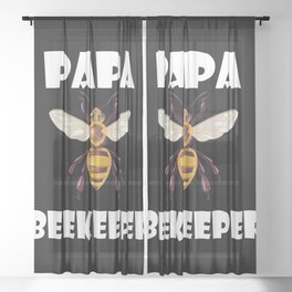 Bee Whisperer Retro Style Beekeeping Dad Father Sheer Curtain