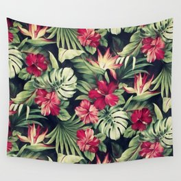 Night tropical garden Wall Tapestry