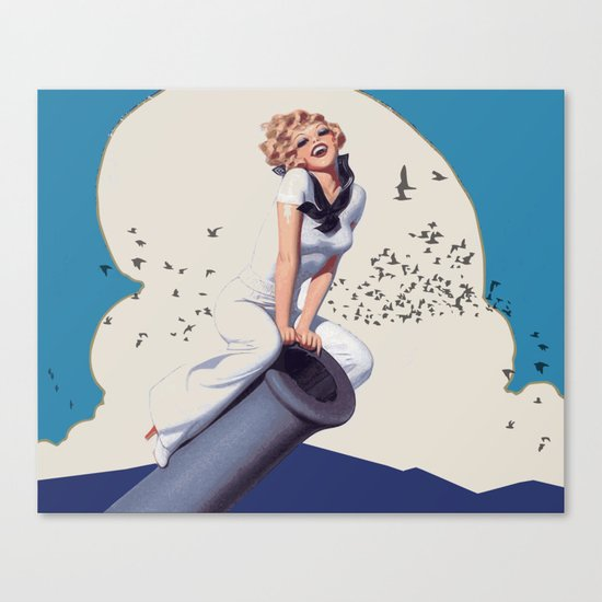 Powergirl Canvas Print