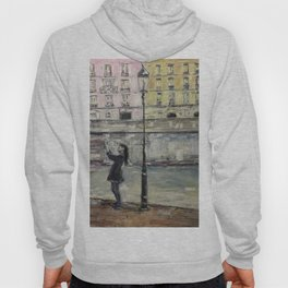 City Landscape selfie Print Original Oil Painting on Canvas Hoody