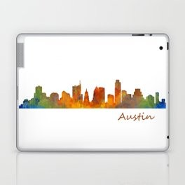 Austin Texas, City Skyline, watercolor  Cityscape Hq v1 Laptop & iPad Skin