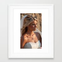 bride Framed Art Prints featuring Bride by Rory Trappe