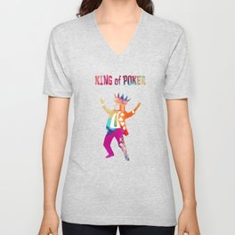 Poker King colored Unisex V-Neck